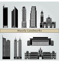 Manila landmarks and monuments vector