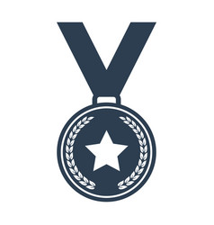 Medal icon on white background vector