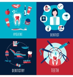 Medical flat concept with dentistry infographics vector