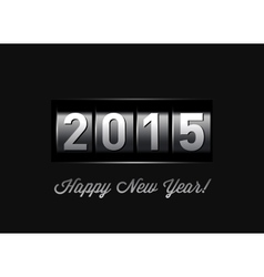 New Year counter 2015 vector image