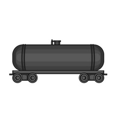 railway tank caroil single icon in monochrome vector image