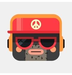 Rapper avatar trendy gangsta squared vector