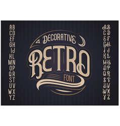 retro typeface font vector image