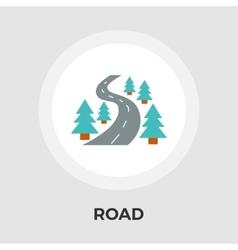 Road flat icon vector image vector image