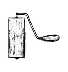 roller brush vector image