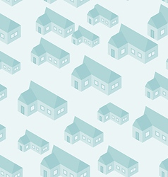 Simple isometric house seamless pattern vector