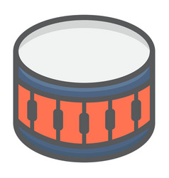 Snare drum filled outline icon music vector