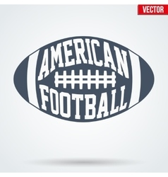 Sports symbol ball of American football with vector image