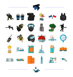 Tank crane pump and other web icon in black vector