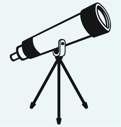 Telescope in tripod vector image