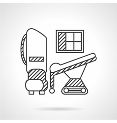 Thin line icon medical equipment vector