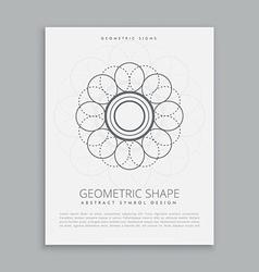 Abstract geometric shape design vector