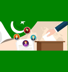 Pakistan democracy political process selecting vector