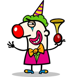clown performer cartoon vector image