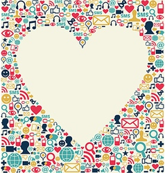 Social media love heart texture vector