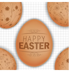 Easter brown eggs background vector