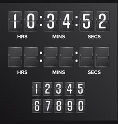 flip countdown timer analog black vector image