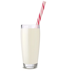 Glass of milk tube vector
