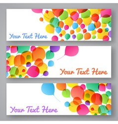 Set of colorful balloons banners vector