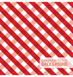 Gingham red vector