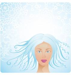 winter woman vector image