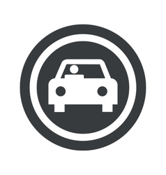 Round black car sign vector