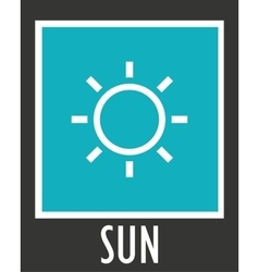 Simple icons sun rays with short vector