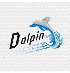Dolphin badges logos and labels for any use vector