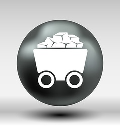 Rail wagon icon button logo symbol concept vector