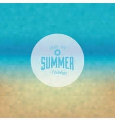 Summer vacation label vector