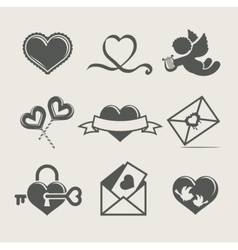 st valentines day set icon vector image