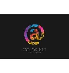 Net logo design color net logo web logo design vector
