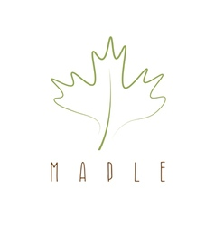 maple leaf abstract outline design template vector image