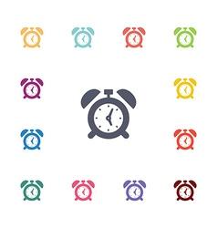 alarm clock flat icons set vector image