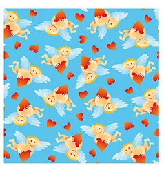 angel pattern vector image vector image