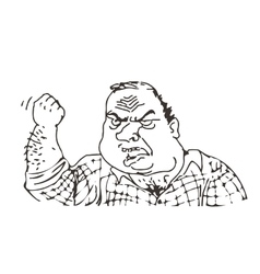 angry male meme face for any design vector image vector image
