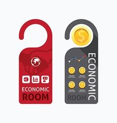 aper door handle lock hangers concept economic vector image