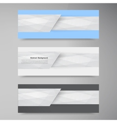 Banner background white line paper origami vector