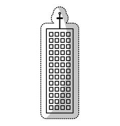 Building facade structure cut line vector