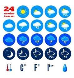 Collection of weather forecast icons vector image