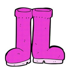 comic cartoon rubber boots vector image