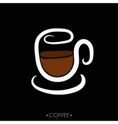 cup of coffee hand drawn vector image