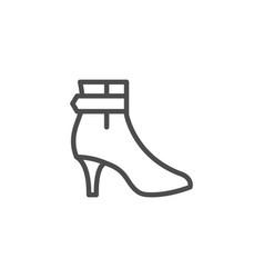 female shoe line icon vector image vector image