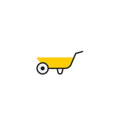 flat icon wheelbarrow element vector image vector image