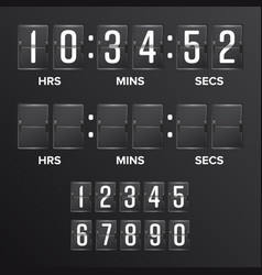 flip countdown timer analog black vector image