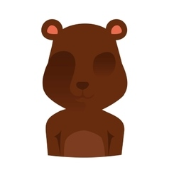 Gift toy bear on white background vector