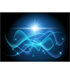 glowing stars and wave vector image