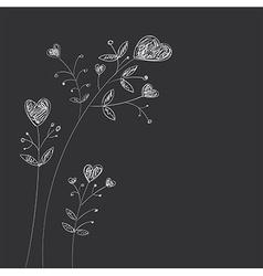 Heart-flowers vector