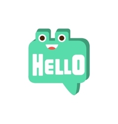 Hello speech bubble word and corresponding vector
