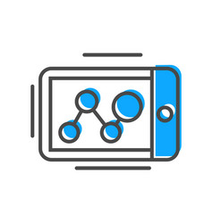 Process management icon with tablet pc sign vector